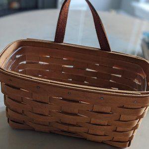 Longaberger Hanging Basket-Leather Handle w/ Liner